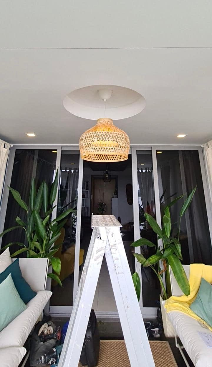 Dismantle Ceiling Fan And Install Ceiling Light In The Estuary Condominium